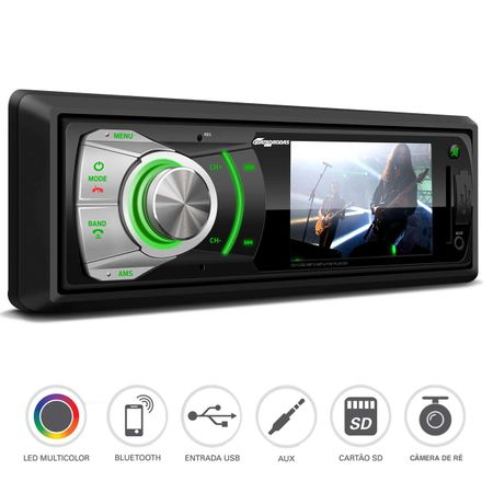 MP3-Player-Automotivo-Quatro-Rodas-3-Polegadas-Bluetooth-USB-SD-AUX-Camera-de-Re-connectparts--1-