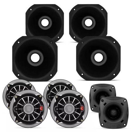 Kit-4-Drivers-Selenium-JBL-2-Super-Tweeters-4-Cornetas-Curtas-1000W-RMS-Connect-Parts--1-