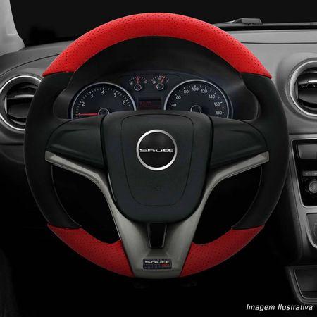 Volante-Cruze-Couro-Perfurado-Vermelho-Superior-Inferior-Aplique-Grafite-Aco-Escovado-Carbono-connectparts--1-