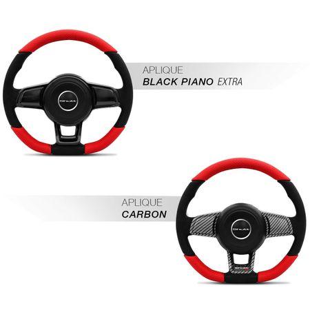 Volante-Mk7-Universal-Couro-Perfurado-Vermelho-Superior-Inferior-Aplique-Fibra-Carbono-Black-Piano-connectparts--2-