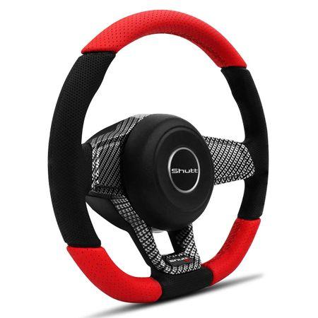 Volante-Mk7-Universal-Couro-Perfurado-Vermelho-Superior-Inferior-Aplique-Fibra-Carbono-Black-Piano-connectparts--3-