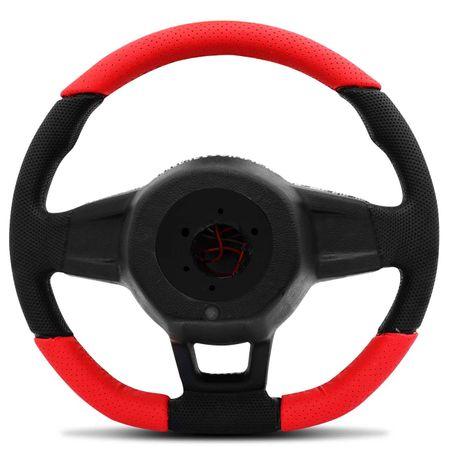 Volante-Mk7-Universal-Couro-Perfurado-Vermelho-Superior-Inferior-Aplique-Fibra-Carbono-Black-Piano-connectparts--5-