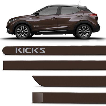 Jogo-de-Friso-Lateral-Nissan-Kicks-2017-e-2018-4-Portas-Tipo-Borrachao-Cinza-Rust-com-Grafia-connectparts--1-