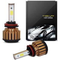 Kit Lâmpada Ultra LED Headlight H11 12V 35W 7200LM Efeito Xênon Carro