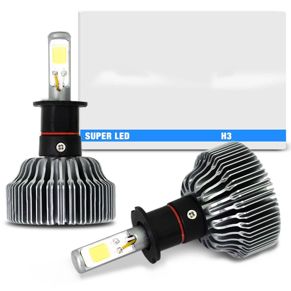 Kit Lampadas Super LED H3 6000K 12V E ...