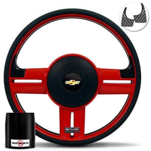 Volante-Shutt-Rallye-Vermelho-RS-Aplique-Preto-e-Carbono---Cubo-Chevette-Chevy-Marajo-73-a-95-connect-parts--1-