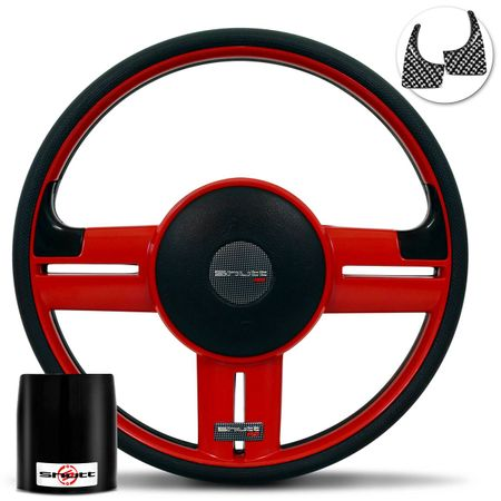 Volante-Shutt-Rallye-Vermelho-RS-Aplique-Preto-e-Carbono---Cubo-Jeep-Willys-57-a-83-connect-parts--1-