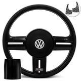 Volante-Shutt-Black-Piano-Xtreme-Aplique-Preto-e-Carbono---Cubo-Fusca-Voyage-Passat-Todos-VW-connect-parts--1-