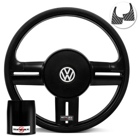 Volante-Shutt-Rallye-Black-Piano-Xtreme-Aplique-Preto-e-Carbono---Cubo-Gol-Fox-Golf-Polo-Linha-VW-connect-parts--1-