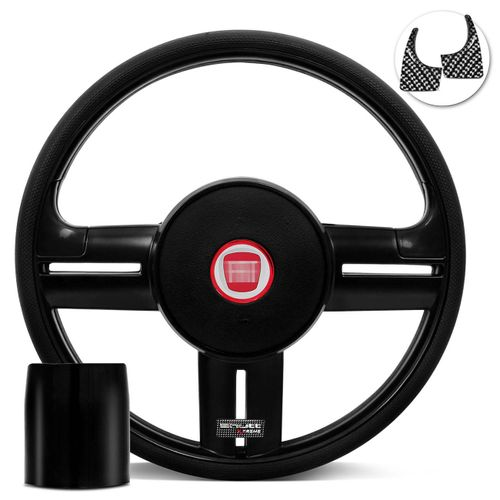 Volante-Shutt-Rallye-Black-Piano-Xtreme-Aplique-Preto-e-Carbono---Cubo-Uno-Tempra-Elba-Fiorino-Connect-Parts--1-