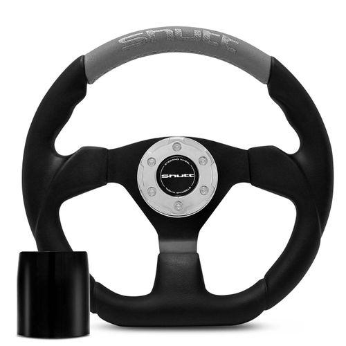 Volante-Esportivo-Shutt-SRHB-Preto-e-Cinza-com-Acionador-de-Buzina---Cubo-Escort-Logus-connect-parts--1-