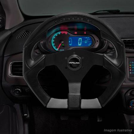 Volante-Shutt-S3R-Basic-Line-Com-Detalhe-Cinza-Com-Acionador-Buzina---Cubo-Chevy-Marajo-connect-parts--1-