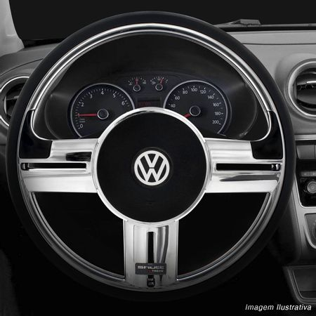Volante-Shutt-Rallye-Cromado-Xtreme-Aplique-Preto-Prata-Escovado--Cubo-Fusca-Voyage-Passat-Todos-VW-connect-parts--1-