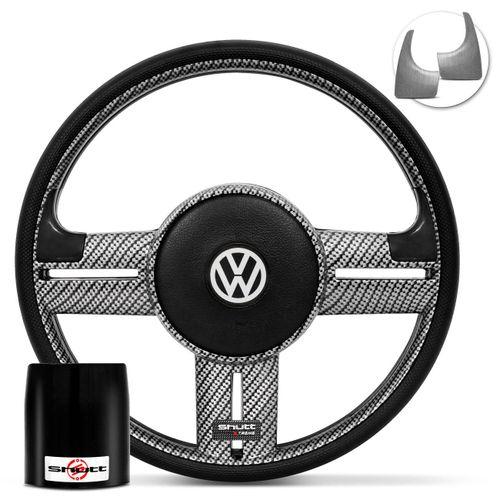 Volante-Shutt-Rallye-Carbon-Xtreme-Apliques-Preto-e-Prata-Escovado--Cubo-Gol-Fox-Golf-Polo-Linha-VW-Connect-Parts--1-