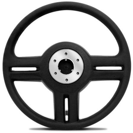 Volante-Shutt-Rallye-Cromado-Xtreme-Aplique-Preto-Prata-Escovado---Cubo-Fiat-147-1978-a-1987-Connect-Parts--1-