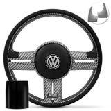 Volante-Shutt-Rallye-Carbon-Xtreme-Apliques-Preto-e-Prata-Escovado---Cubo-Chevette-Chevy-Marajo--1-