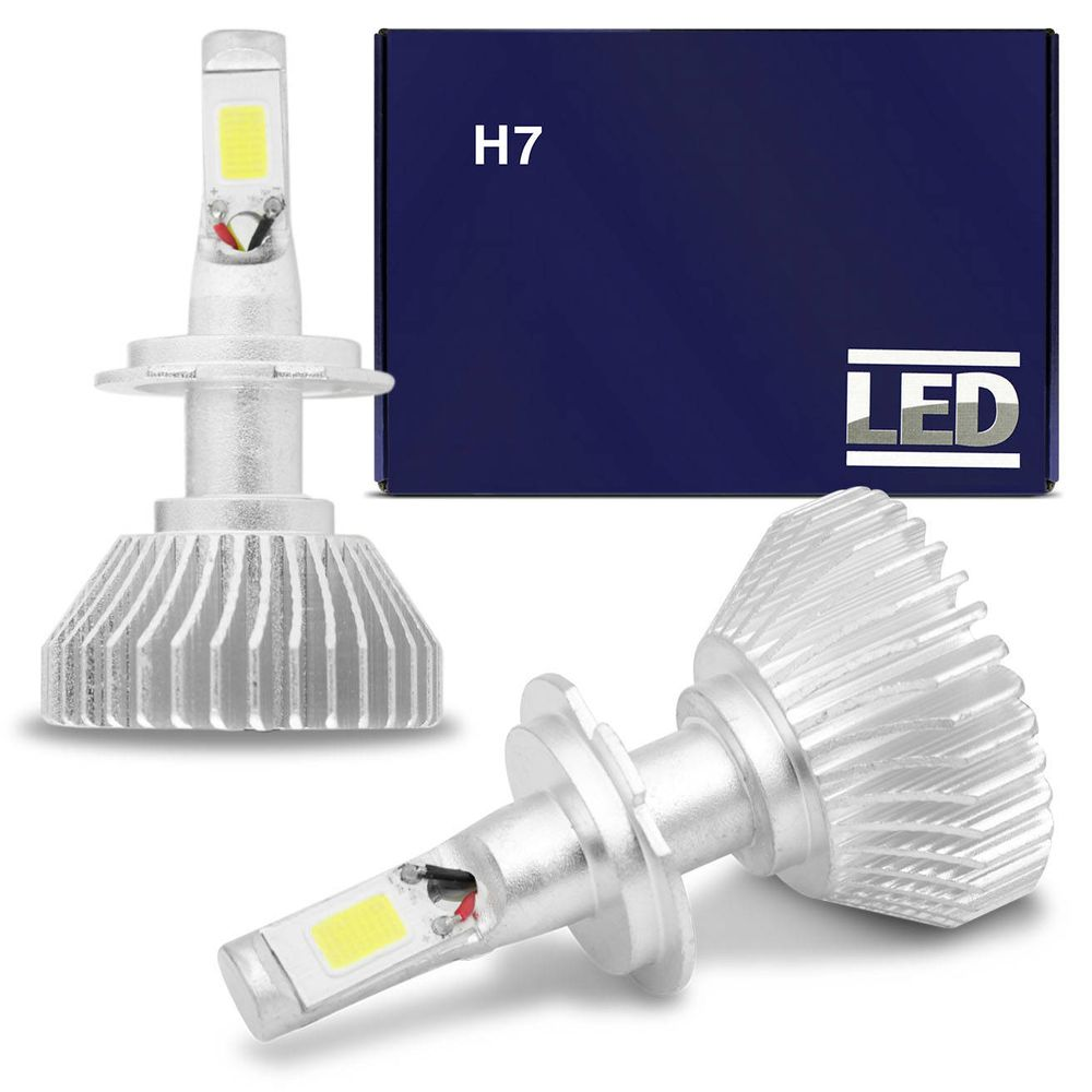 lâmpada super led h7 6000k 12v 24v efeito xenon - connect parts