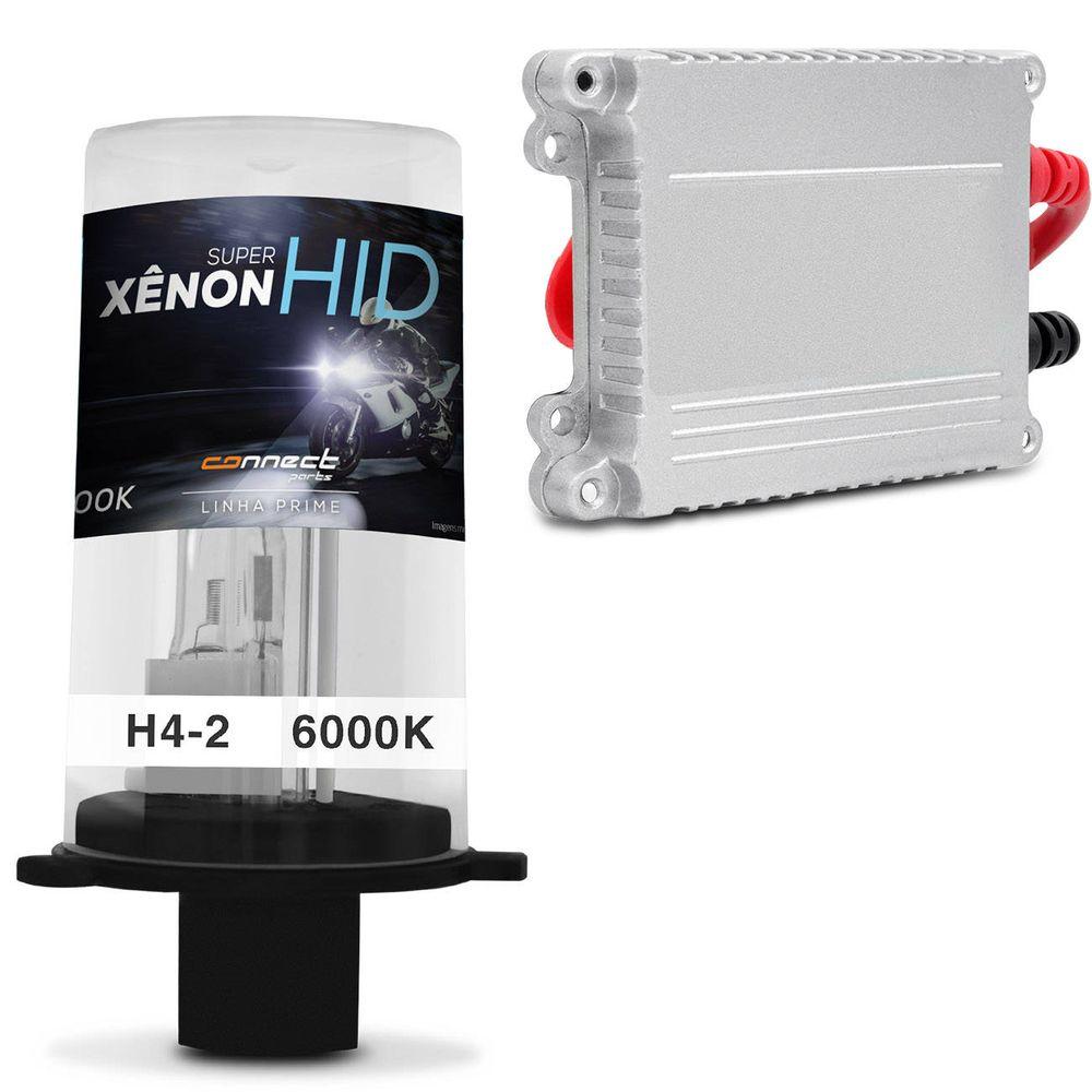2da1fd0689abb Lâmpada Xênon Completo H4-2 6000K Reator - Connect Parts