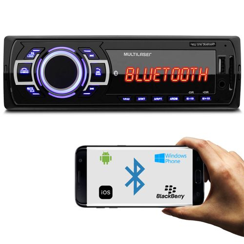 MP3-Player-Automotivo-Multilaser-New-One-Bluetooth-P3319-1-Din-USB-SD-AUX-MP3-FM-4x125-WRMS-connectparts--1-