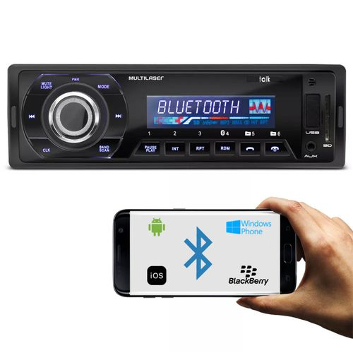 MP3-Player-Automotivo-Multilaser-Talk-P3214-Bluetooth-1-Din-USB-SD-AUX-MP3-WMA-FM-4x45-WRMS-connectparts--1-