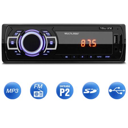 MP3-Player-Multilaser-New-One-1-Din-USB-SD-Radio-FM-Auxilar-connectparts--1-