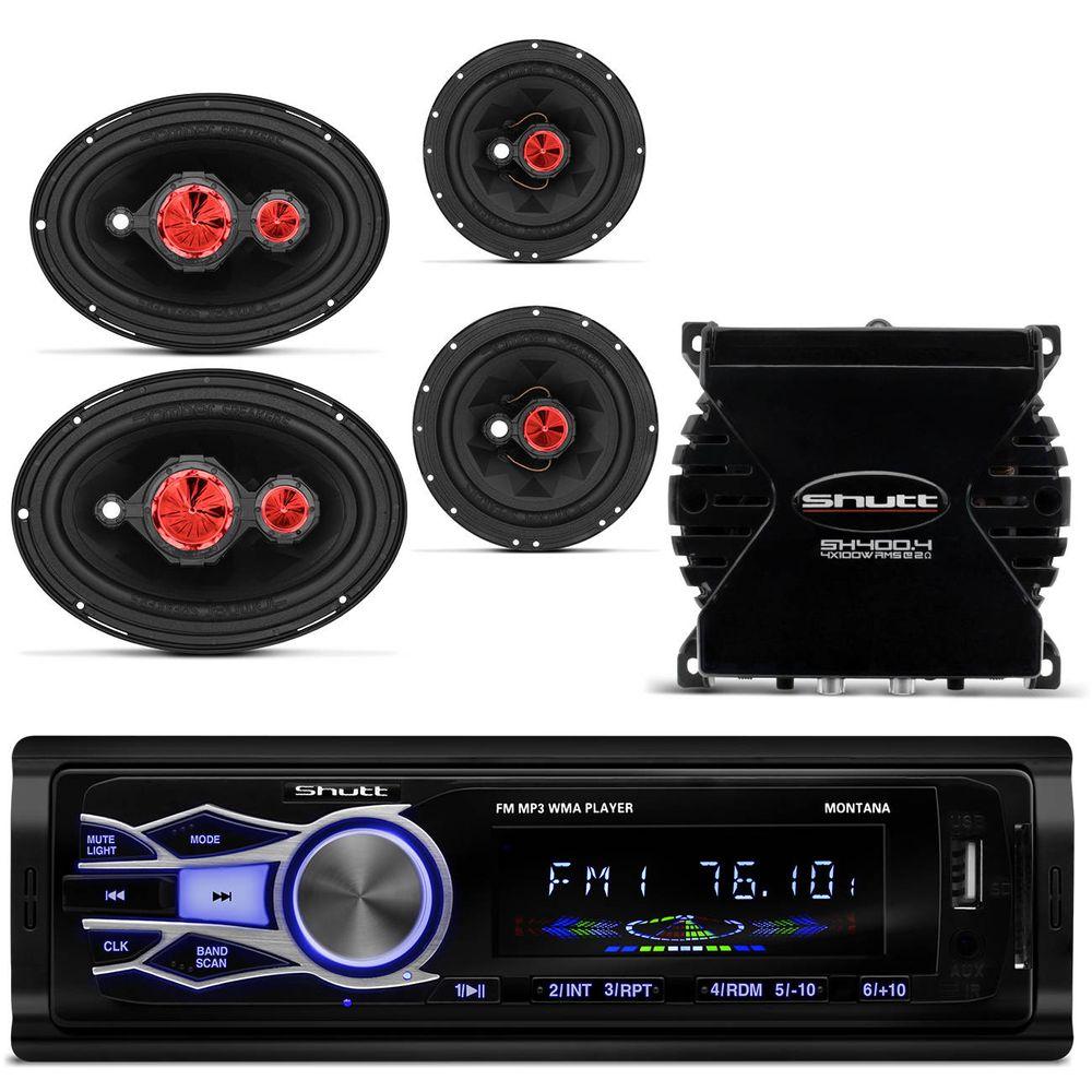 MP3 Player Shutt + Amplificador + Kit Falante Bomber - Connect Parts 276f10ec070