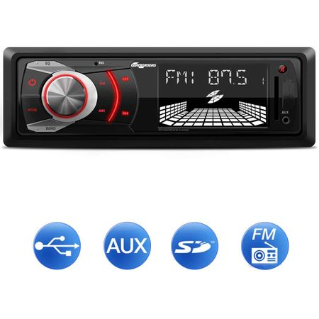 MP3-Player-Automotivo-Quatro-Rodas-MTC6608-1-Din-3-Pol-Display-Alfanumerico-USB-SD-AUX-FM-RCA-connectparts--1-