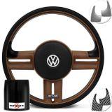 Volante-Shutt-Rallye-Surf-Whisky-GTR-Aplique-Preto-Escovado-e-Carbono---Cubo-Fusca-Voyage-Passat-VW-Connect-Parts--1-