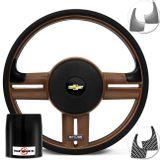 Volante-Shutt-Rallye-Surf-Whisky-GTR-Aplique-Preto-Escovado-e-Carbono---Cubo-Opala-Caravan-Connect-Parts--1-