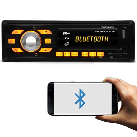 MP3-Player-Automotivo-Hurricane-HR-414-BT-1-Din-Bluetooth-USB-SD-AUX-FM-RCA-Tela-LED-4x18-WRMS-connectparts--1-