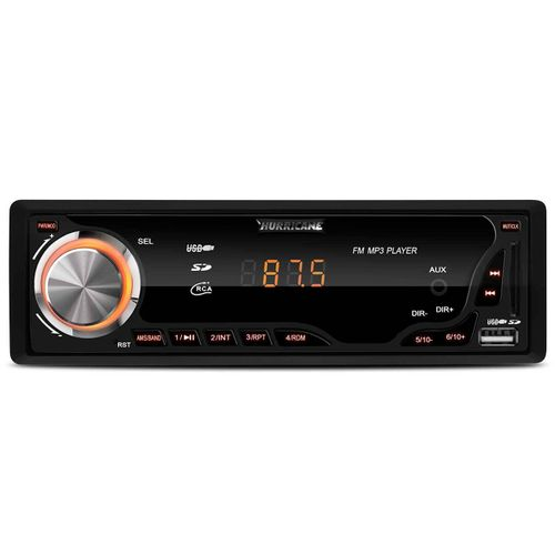 MP3-Player-Automotivo-Hurricane-HR-418-1-Din-USB-SD-AUX-FM-WMA-RCA-Tela-Display-LED-4x25-WRMS-connectparts--1-