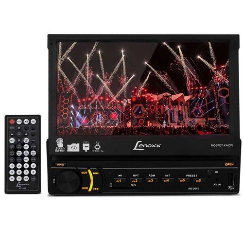 Central-Multimidia-Lenoxx-AD-2615-Touch-1-Din-Retratil-7-Pol-USB-SD-MP3-MP4-MP5-RCA-FM-AUX-Controle-connectparts--1-