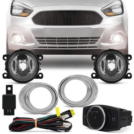 Kit-Farol-De-Milha-New-Ka-2015-2016-2017-Mold-Cromada-Bt-Mod-Original-Imp-connectparts--1-