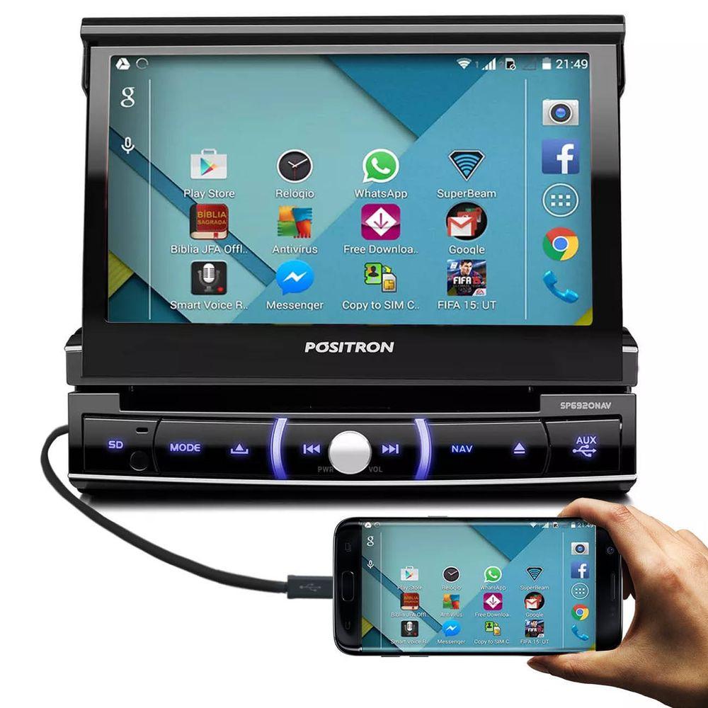 DVD Player Pósitron Retrátil 7 Polegadas GPS - Connect Parts
