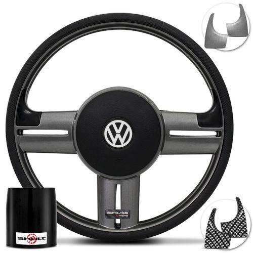 Volante-Shutt-Rallye-Surf-Grafite-Xtreme-Apliques-Preto-Escovado-e-Grafite---Cubo-Polo-Linha-VW-Connect-Parts--1-