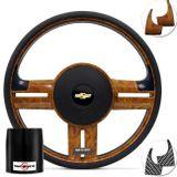 Volante-Shutt-Surf-Madeira-GTR-Apliques-Preto--Madeira-Carbono---Cubo-Opala-Caravan-connect-parts--1-