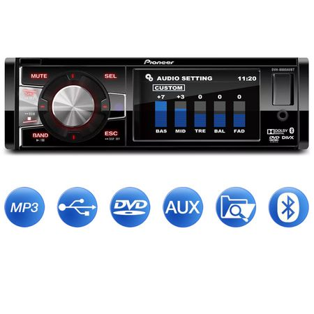DVD-Player-Automotivo-Pioneer-DVH-8880AVBT-1-Din-35-Pol-Bluetooth-USB-AUX-CD-MP3-RCA-WMA-AM-FM-connectparts--1-