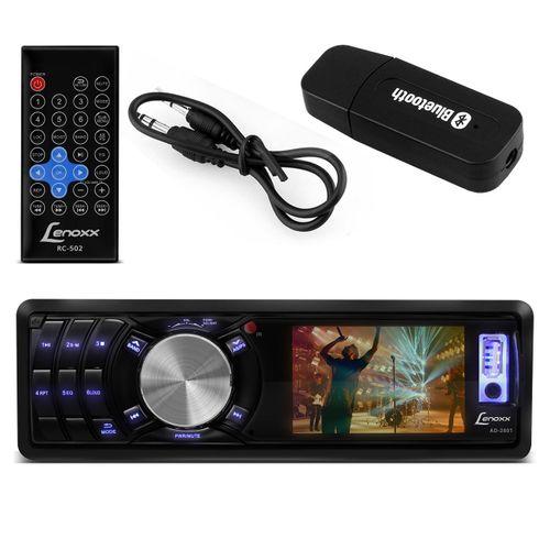 MP3-MP4-Player-Automotivo-Lenoxx--3-Pol-USB-SD-AUX-FM-RCA---Adaptador-Bluetooh-Musica-Connect-Parts--1-