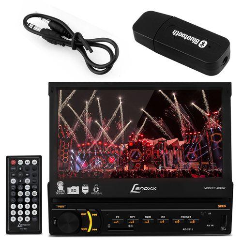 Central-Multimidia-Lenoxx--Touch-1-Din-Retratil-7-Pol-USB-SD-MP3-MP4-MP5-RCA-FM-AUX---Adaptador-Blue-Connect-Parts--1-