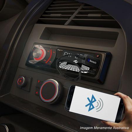 MP3-Player-Automotivo-Quatro-Rodas-1-Din-3-Pol-USB-SD-AUX-FM-RCA----Adaptador-Bluetooh-Musica-Connect-Parts--1-