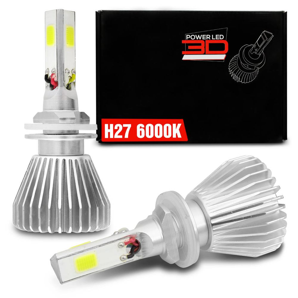 Ordinaire Kit Lampada Super LED 3D Headlight H27 6000K ...