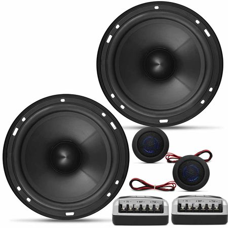 Kit-Duas-Vias-Multilaser-2-Alto-Falantes-6-Polegadas-120W-RMS---2-Tweeters-80W-RMS---2-Crossovers-connectparts--1-