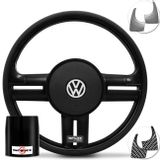 Volante-Shutt-Surf-Black-Piano-Xtreme-Apliques-Prata-Escovado-e-Carbono---Cubo-Fox-Polo-Linha-VW-Connect-Parts--1-