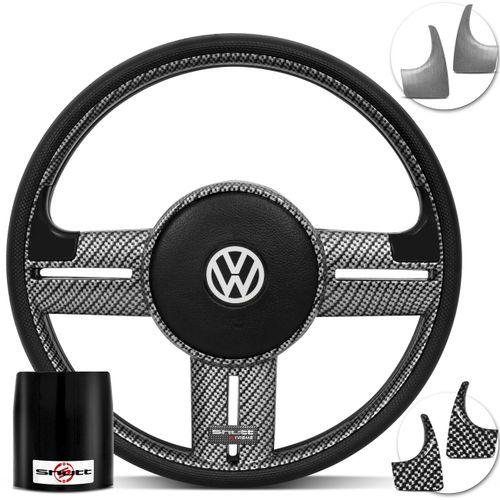 Volante-Shutt-Surf-Carbono-Xtreme-Apliques-Preto-Prata-Escovado-Carbono-Cubo-Fusca-Voyage-Passat-VW-Connect-Parts--1-