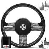 Volante-Shutt-Surf-Carbono-Xtreme-Apliques-Preto-Prata-Escovado-Carbono---Cubo-Fox-Polo-Linha-VW-Connect-Parts--1-