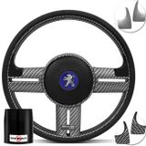 Volante-Shutt-Surf-Carbono-Xtreme-Apliques-Preto-Prata-Escovado-Carbono---Cubo-Peugeot-206-306-207-Connect-Parts--1-