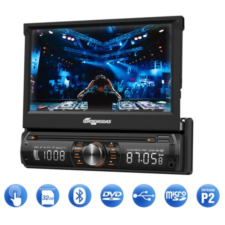 DVD-Quatro-Rodas-MTC6617-1-Din-7-Pol-Retratil-BT-USB---GPS-Discovery-Channel-4--1-
