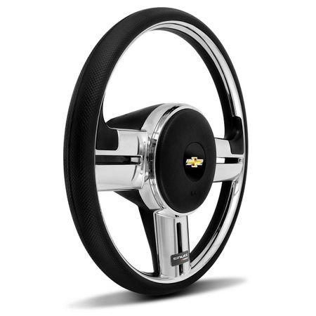 Volante-Shutt-Surf-Cromado-Xtreme-Apliques-Preto-Prata-Escovado-Carbono--Cubo-Chevette-Chevy-Marajo-Connect-Parts--1-