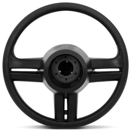 Volante-Shutt-Surf-Cromado-Xtreme-Apliques-Preto-Prata-Escovado-Carbono---Cubo-Fiat-147-1978-a-1987-Connect-Parts--1-