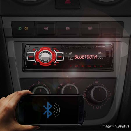 MP3-Player-Automotivo-First-Option-6650B-1-Din-Bluetooth-USB-SD-AUX-AM-FM-RCA-Display-LED-Controle-connectparts--1-